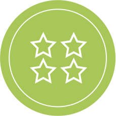 Superior rating icon