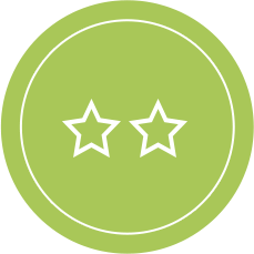 One Star Rating Icon - Good