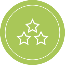 Two Star Rating Icon - Better